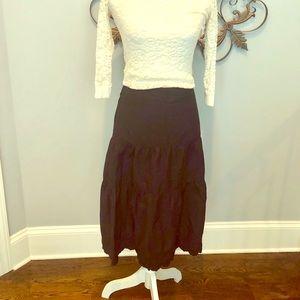 Black mid length skirt ! Size 14